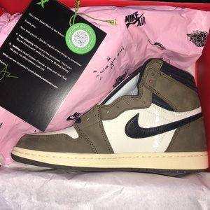 NIKE Air Jordan 1 Travis Scott Cactus Jack Sz 8.5